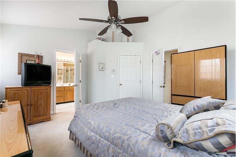 Master bedroom feat. deep walk-in closet