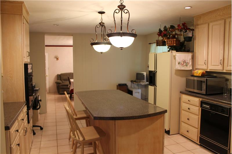 Large Kitchen off Large Dining Area