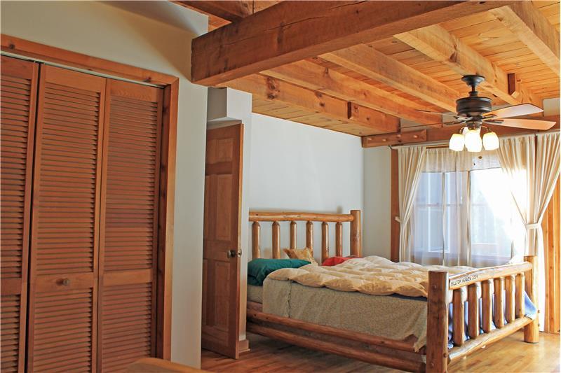 Master Bedroom w Slider to Outside Deck