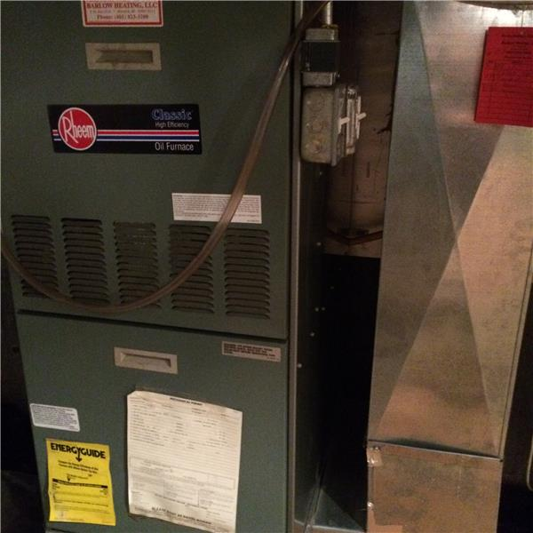 Newer High efficiency Oil furnace for heating & central air system