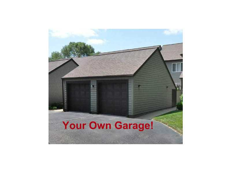 Deep Garage with storage space
