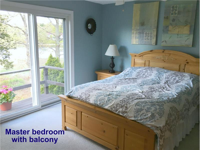 Master bedroom with sliders & deck