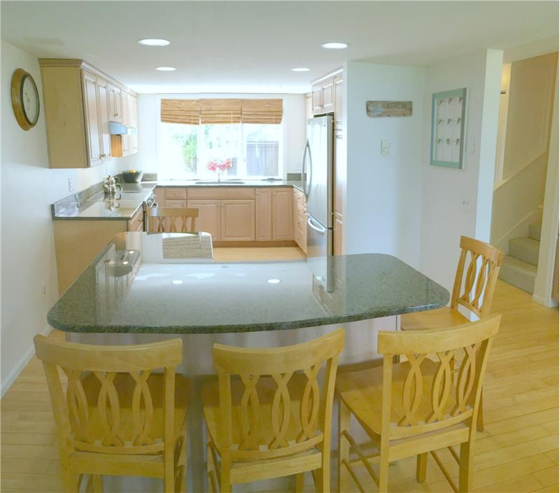 Kitchen is bright & right for entertaining