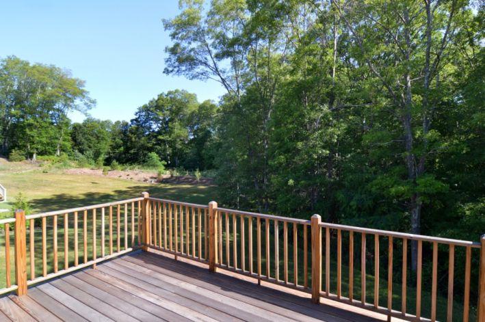 Large deck to backyard