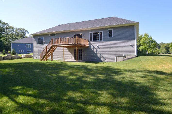 .55 acre & private backyard