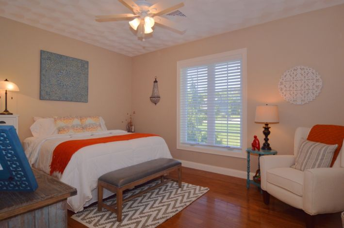 Large bedroom with double closets