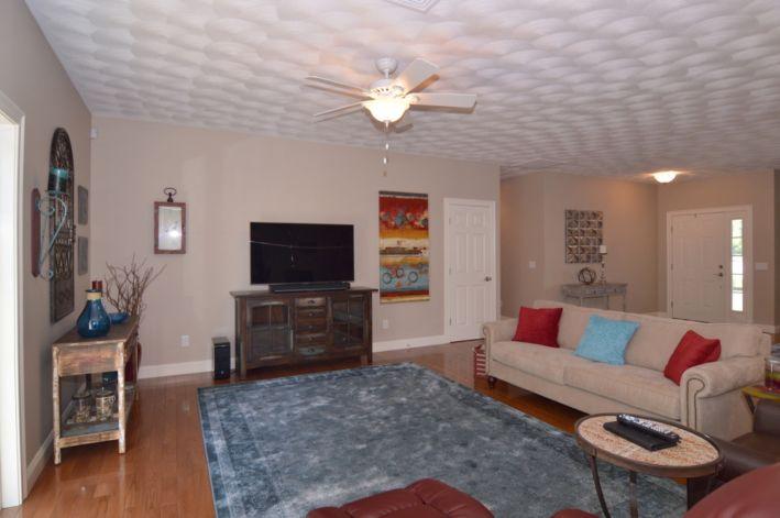 Living room- hardwoods throughout first floor