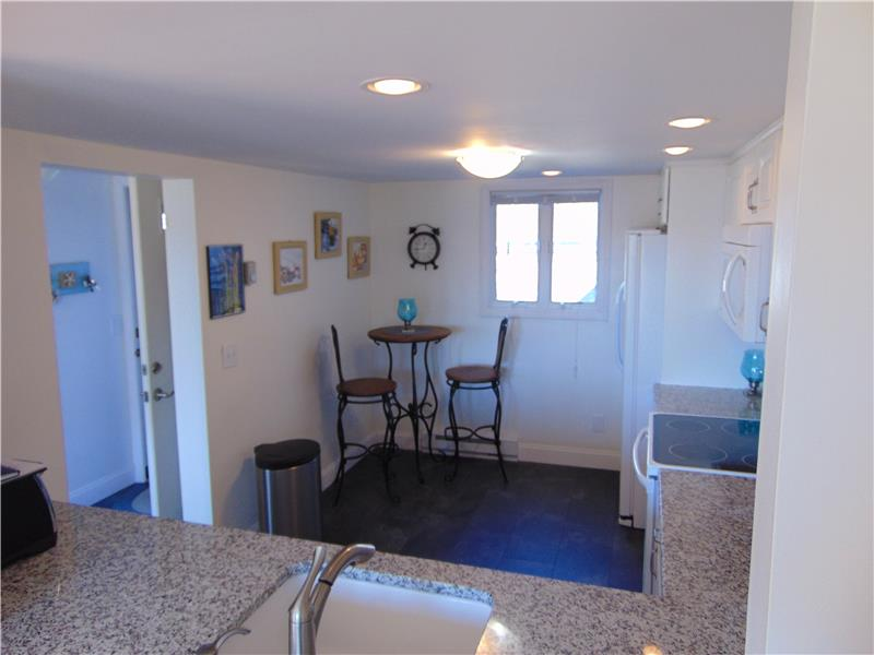 Updated eat in kitchen with recessed lights