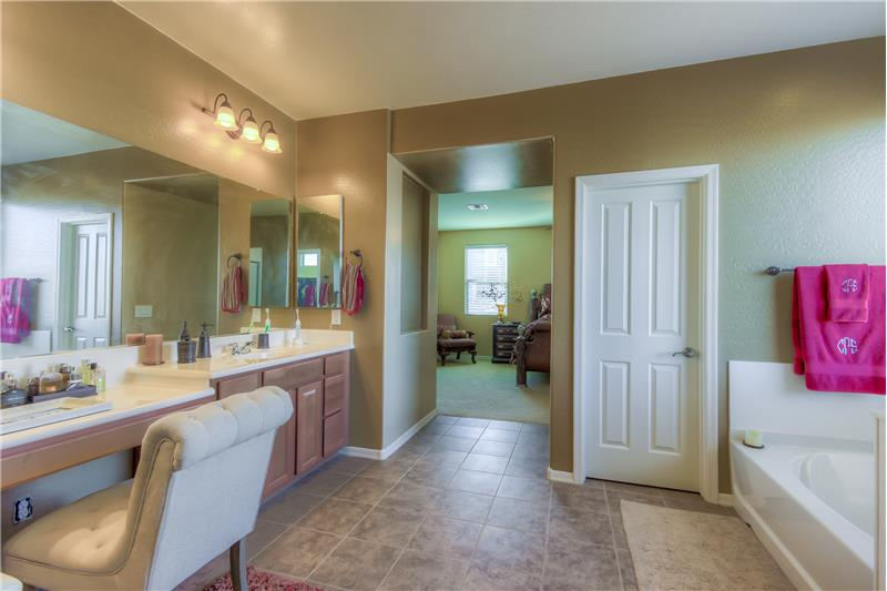 Master Bathroom with Large Soaking Tub