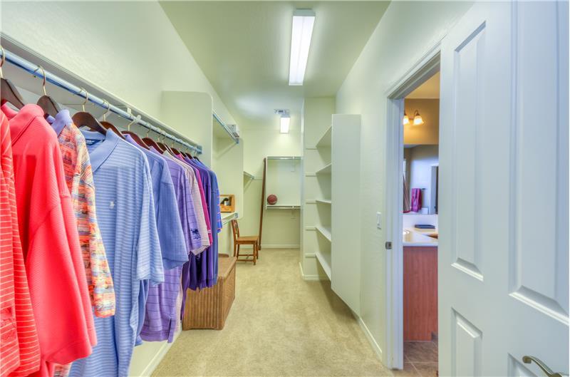 Extra Large Master Closet!