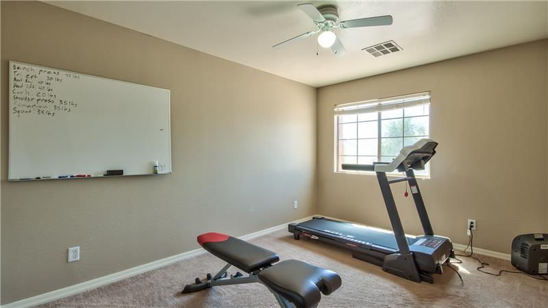 Bedroom 4, Perfect for an Office or Workout Space
