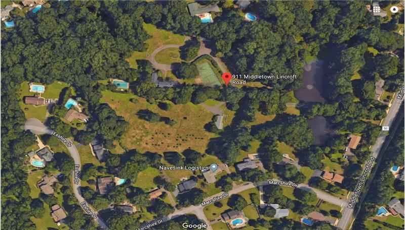 911 Middletown Lincroft Rd, Middletown, NJ 07748 on zip code map, new jersey shore map, lincroft new jersey map, fort dix range map,