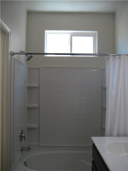 Master Bathroom Tub with Shower and Window