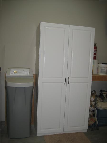 Water Softener & Storage Cabinet Included