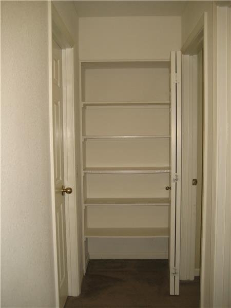 Storage Closet At End of Hall