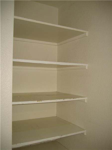 Shelves in Laundry Room