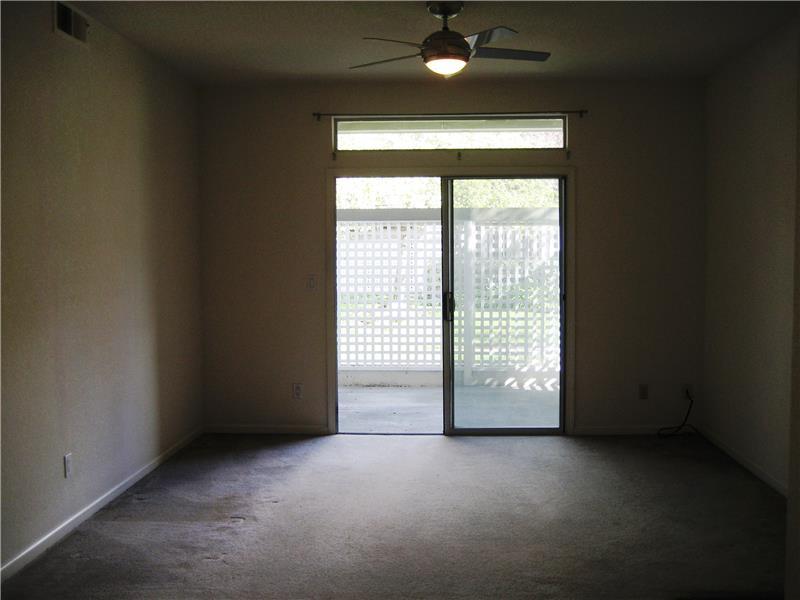 Living Room Sliding Door to Patio