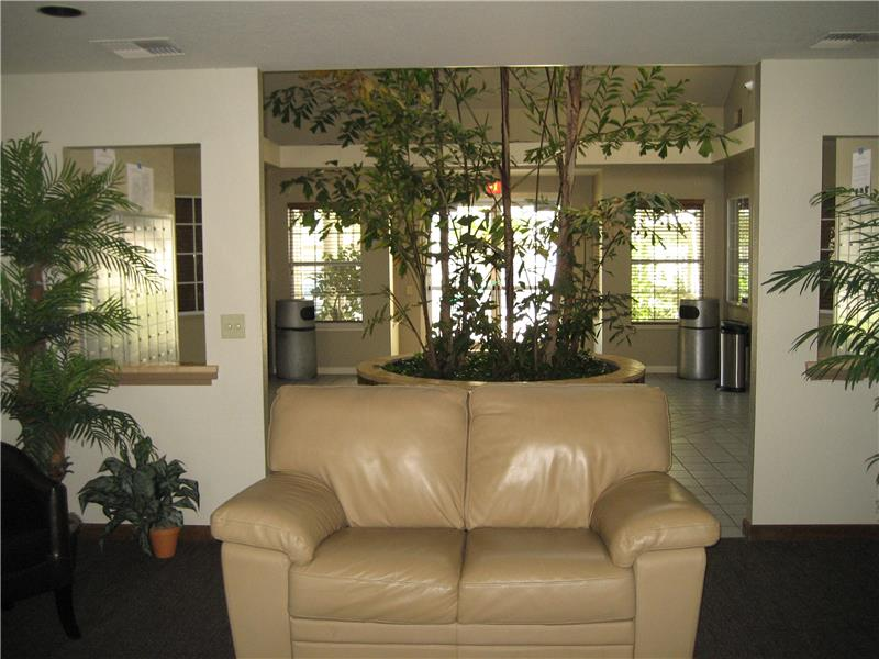 View To Clubhouse Lobby From Living Room Area