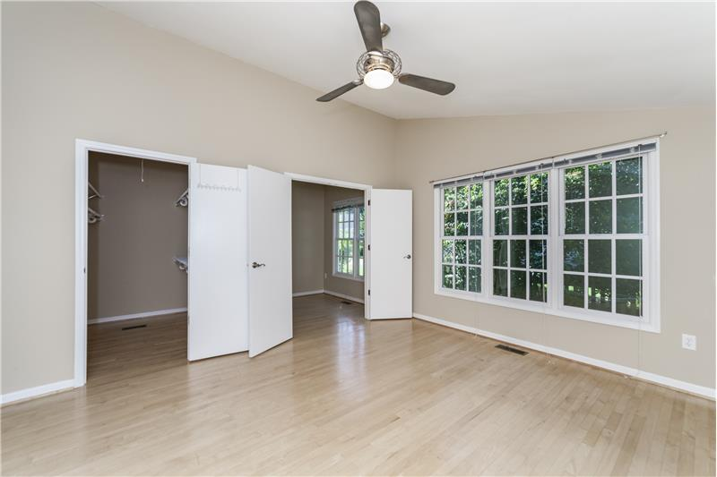 Large walk in closet in downstairs master bedroom