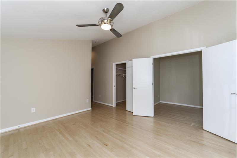 Large walk in closets in master bedroom