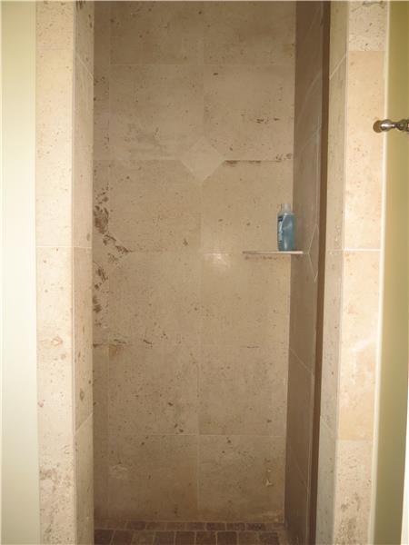 More Travertine tiles