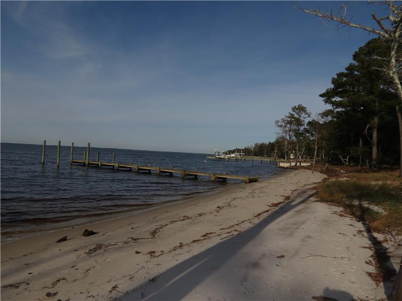 Private sandy beach