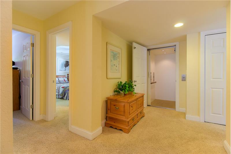 Elevator open to Mid Level Foyer