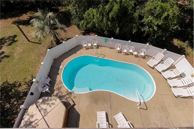 Aerial Vew of Pool and Spa
