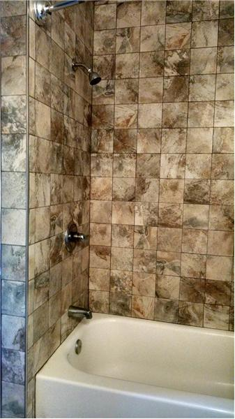 NEW bathtub/shower ceramic tile walls!