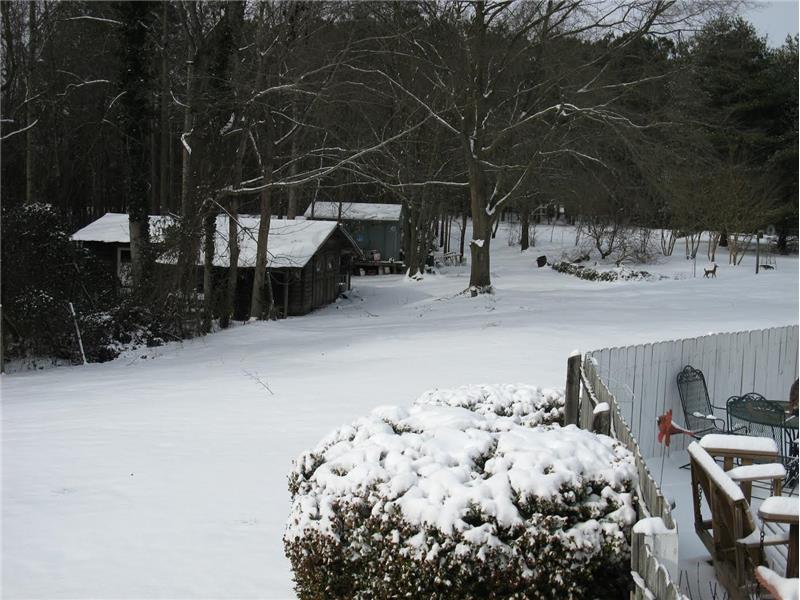 Barns - Fuquay Varina Home for Sale Winter Scene