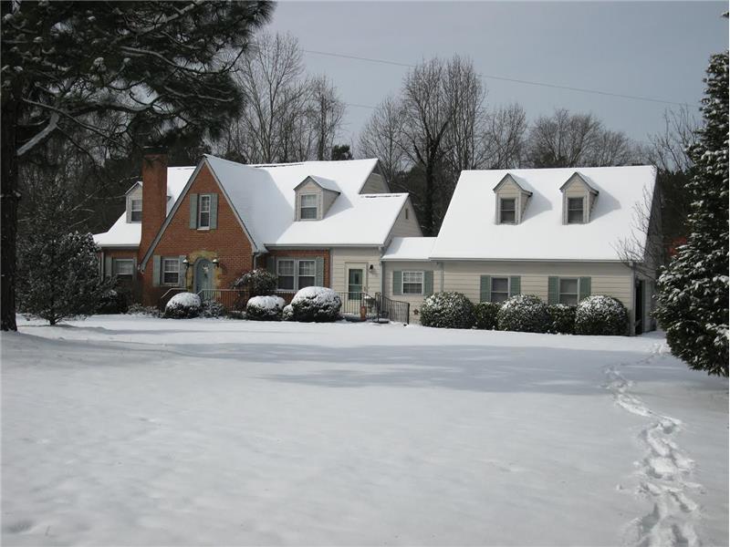 Beautiful Fuquay Varina Home for Sale Winter Scene
