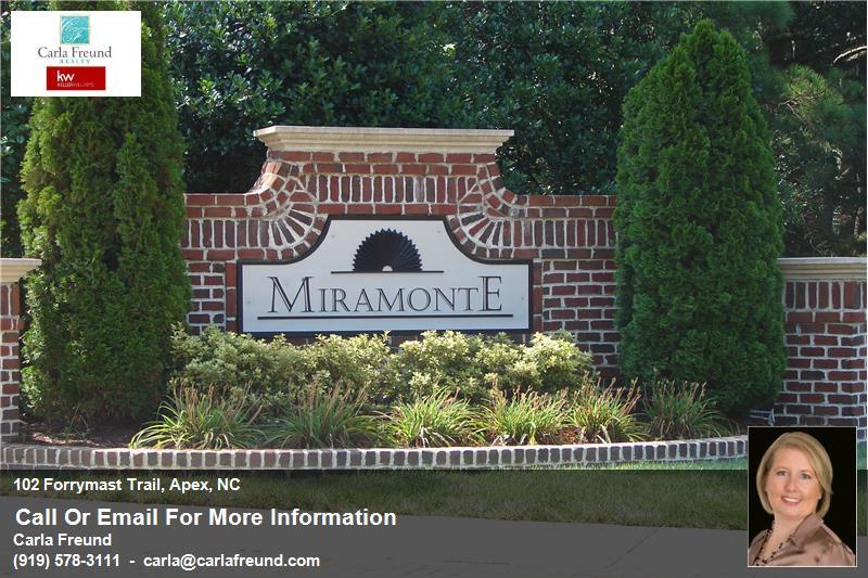 Homes for Sale in Apex NC- Miramonte Apex Realtor