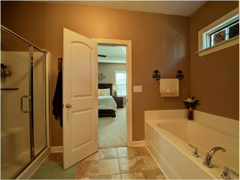 Relaxing Master w/ Shower and Soaking Tub