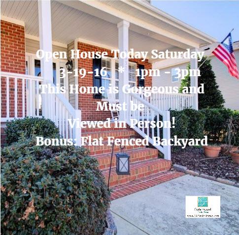 Open House Sat 3-19-16 1pm - 3pm