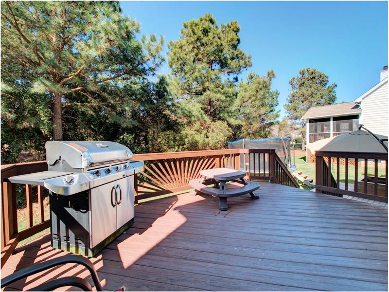 Deck View - very private - Homes for Sale in Cary NC Cary Realtor