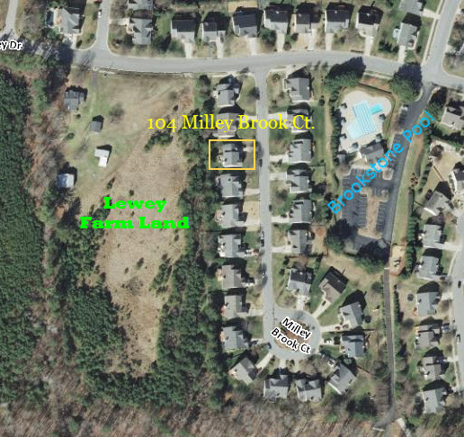 Aeriel View - 104 Milley Brook Ct. Brookstone Subdivision