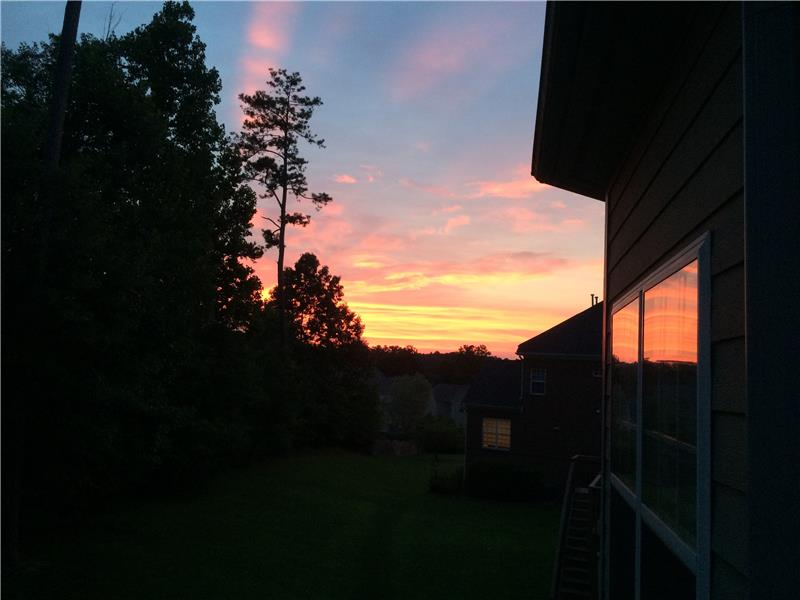 Sunset from your backyard!
