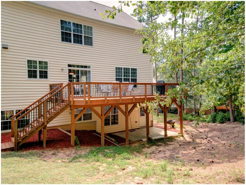 Large Wooded Backyard in Apex