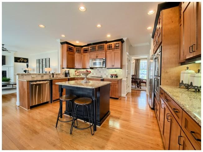 Stunning Custom Kitchen with Wood Floors