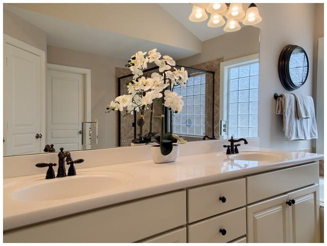 Light & Bright Master Bath which is updated.