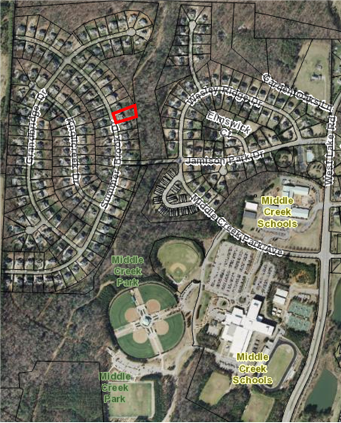 Property proximity to schools and Middle Creek Park