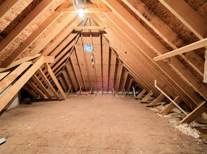 Walk-In Attic on 2nd Floor has tons of storage