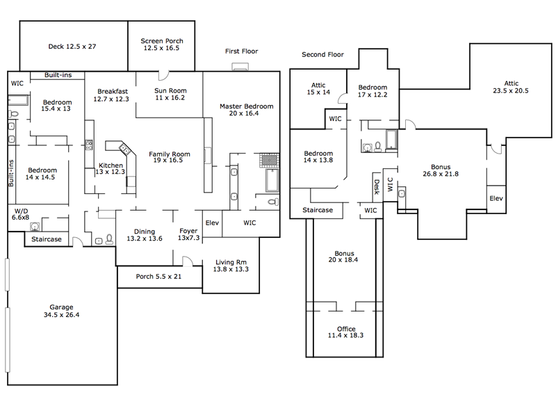 Floor Plan 3504 Foy Glen Apex NC Homes for Sale