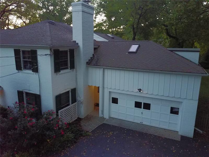 Aerial shot of garage