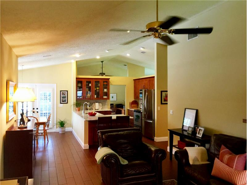 Family Room, Kitchen, & Dining Area