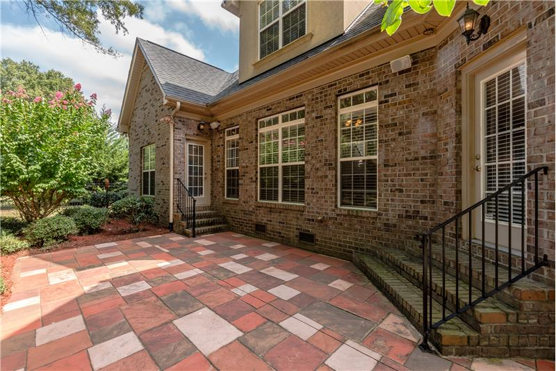 Private, custom patio -- perfect for relaxing, entertaining, grilling, al fresco meals.