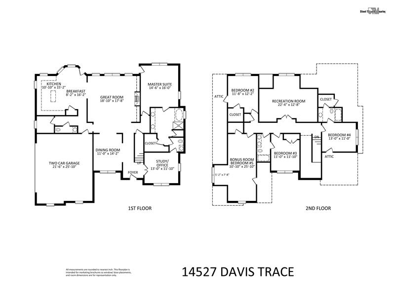 Floor Plan for 14527 Davis Trace Drive
