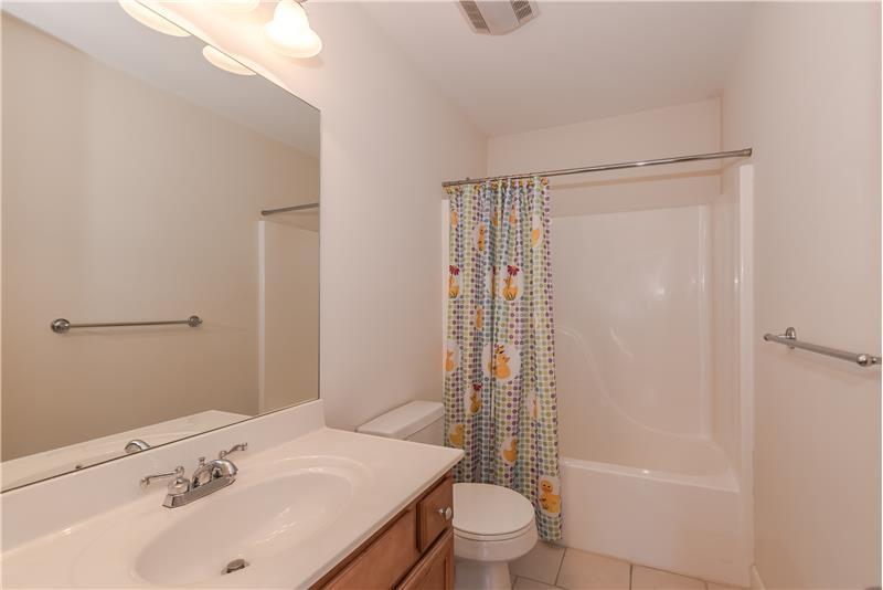 Full bathroom on second floor