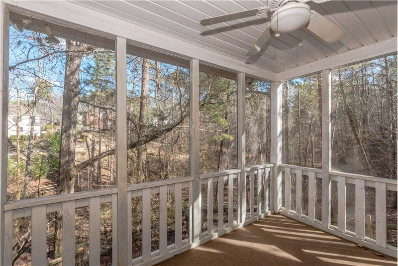 Screened porch on lower level