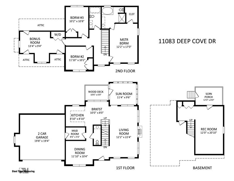 Floor Plan for 11803 Deep Cove Drive in Tega Cay